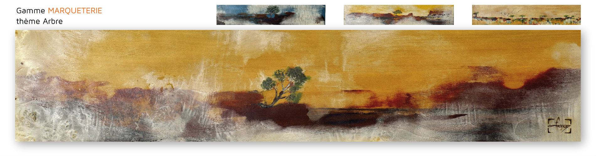 door art collection decor amovible gamme marqueterie arbre